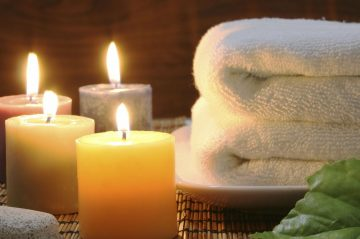 Towels and soft candles